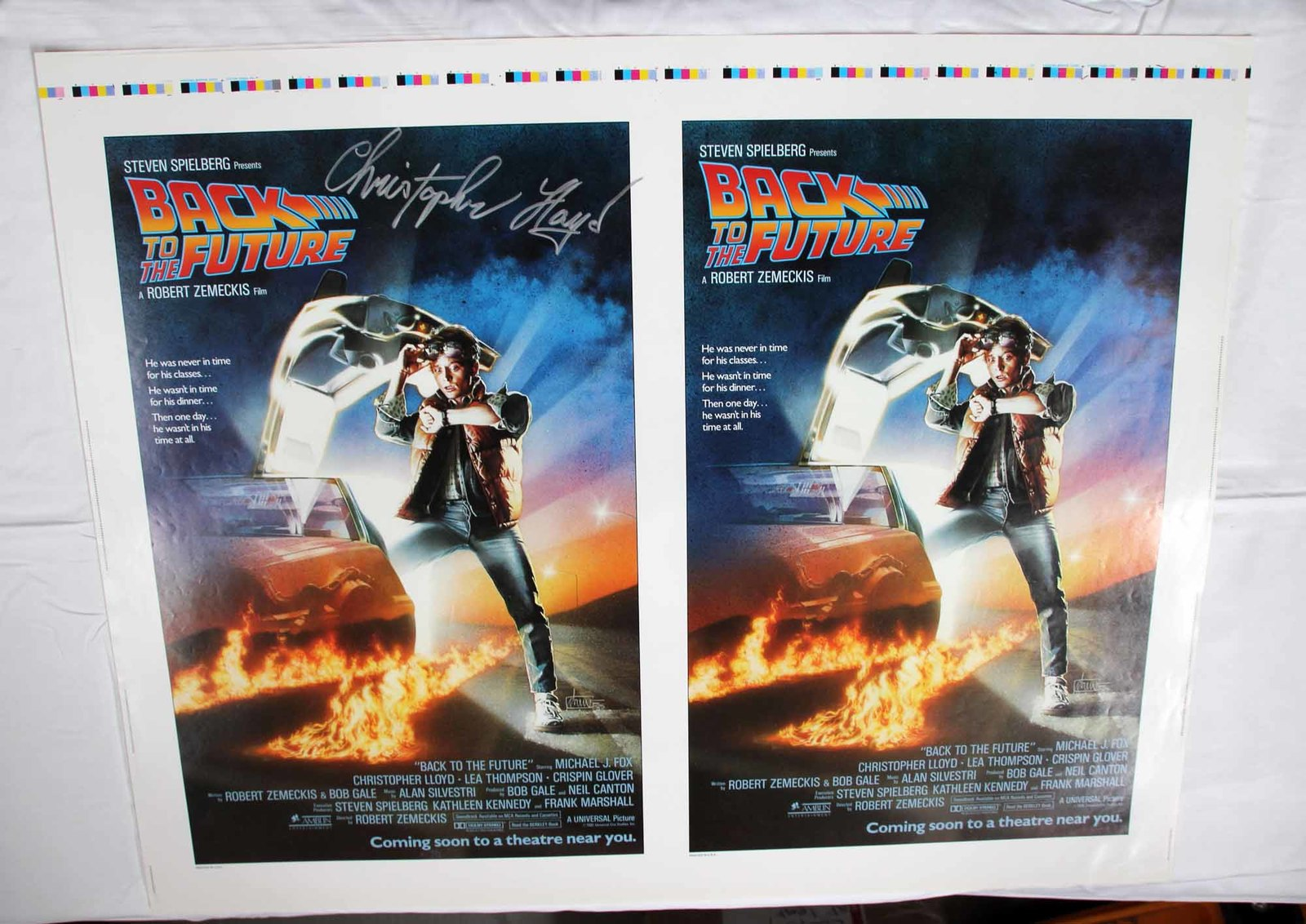 Signed Back To The Future Original Movie Poster Planet Parts