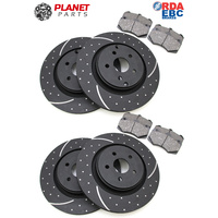 HSV Gen-F Front & Rear DIMPLED & SLOTTED Brake Discs and CERAMIC Brake Pads SET 367mm