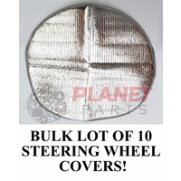 BULK LOT of 10 Steering Wheel Sun Shade Covers SILVER NEW